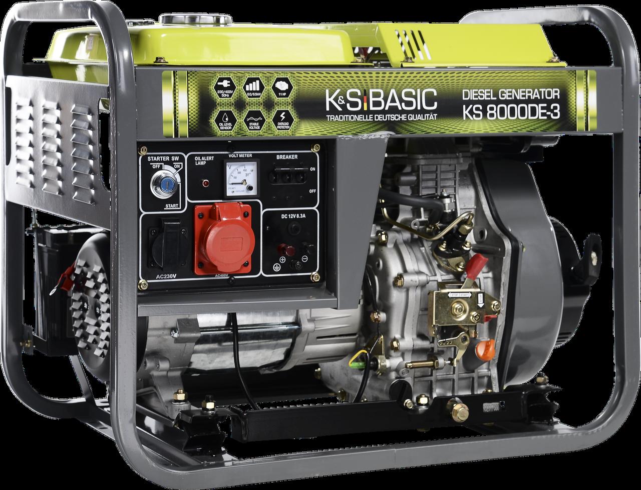 Генератор дизельный Konner&Sohnen Basic KS 8000DE-3