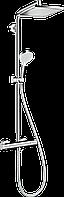 Душова система Hansgrohe Crometta E Showerpipe EcoSmart 240 1jet з термостатом: 9 л/хв