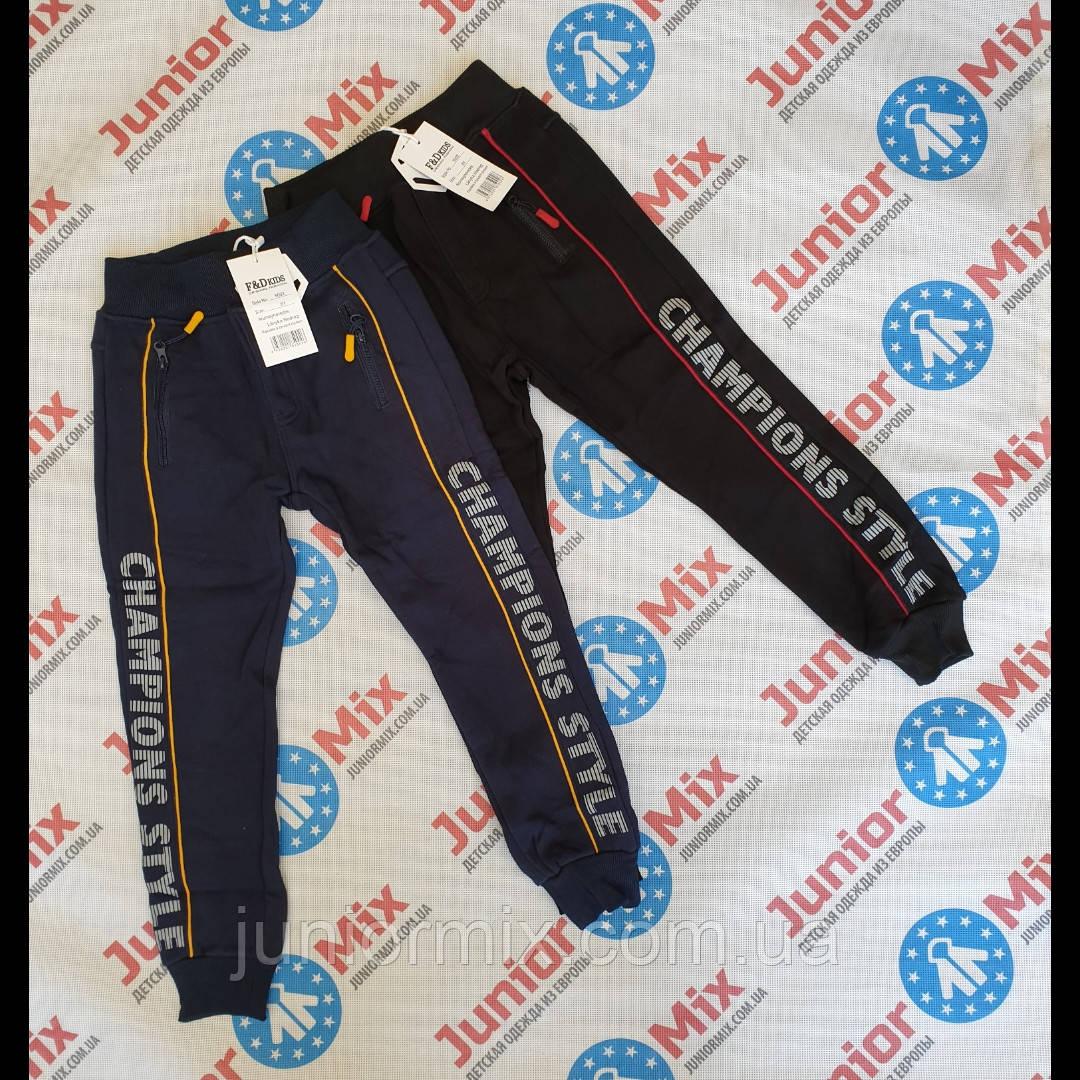 Подростковые теплые трикотажные спорртивные штаны для мальчиков оптом  F&D