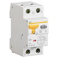 Дифференциальный автоматический выключатель IEK АВДТ32 C40  30мАтип С 40А 2 полюсный