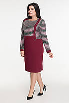 Элегантное женское платье комбинированное из двух видов ткани  батал   50-60  размер, фото 2