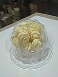 """Набір """"Троянди d 25"""" (кремова), фото 3"""