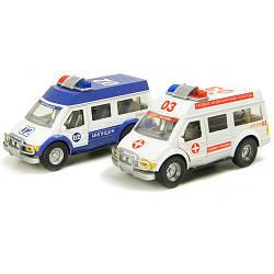 Машина 033B Скорая Помощь Милиция игрушечная спецтехника