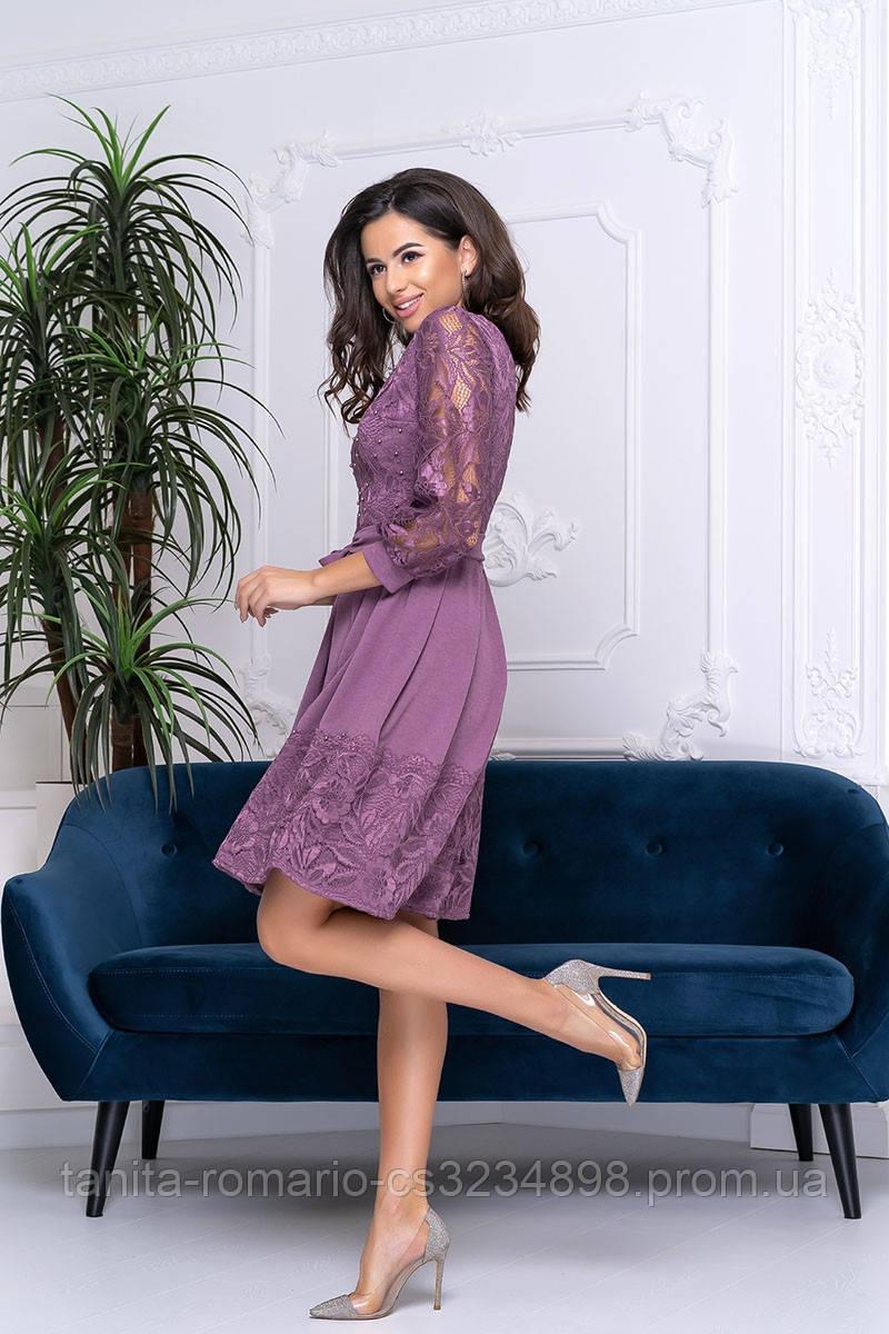 Повседневное платье 9199e Сиреневый S M L