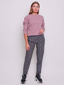 Теплые шерстяные деловые брюки женские серые размер 42-50