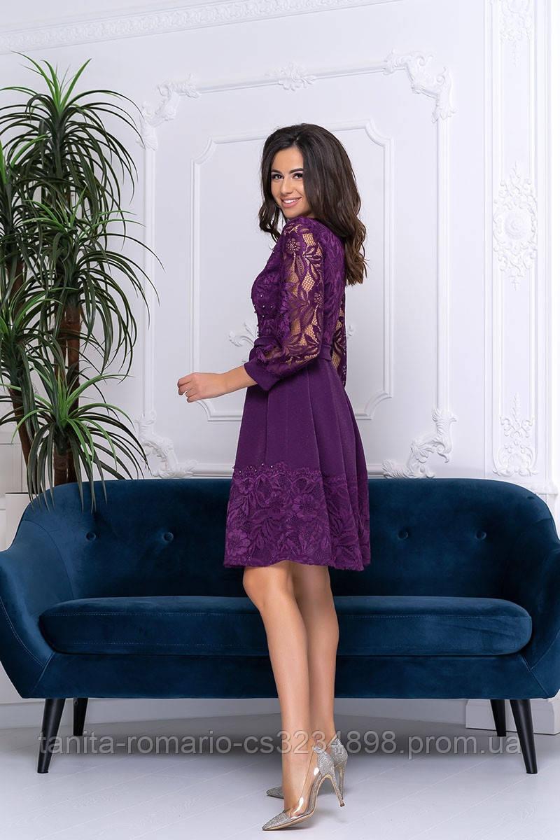 Повседневное платье 9199e Фиолетовый S M L