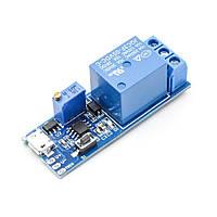 Таймер затримки NE555 відключення або включення MicroUSB, 10A / AC 250В, 0-24 секунд