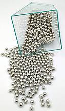 Посыпка шарики серебро 3 мм, 50 грамм