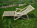 Шезонг-трансформер 3в1. Лежак+кресло качалка из БУКА, фото 2