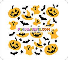 Набор трафаретов для пряников Хеллоуин №1