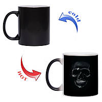 Чашка хамелеон Skull Black 330 мл, фото 1