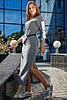 Платье в спортивном стиле 1215.3678 серый (S-L), фото 2