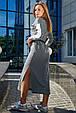 Платье в спортивном стиле 1215.3678 серый (S-L), фото 3