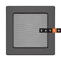 Вентиляционная решетка для камина SAVEN 17х17 графитовая