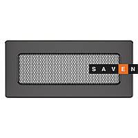 Вентиляционная решетка для камина SAVEN 11х24 графитовая