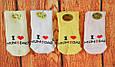 """Носочки махровые детские для новорожденных """"Я люблю маму, папу"""" 0-3 месяцев, фото 2"""