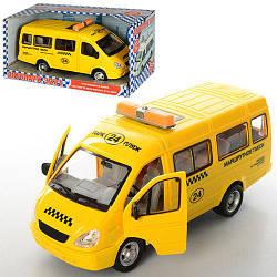 Машина маршрутное такси батарейках 9098-E открываются двери звуковые и световые эффекты