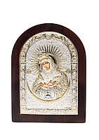 Икона Остробрамская AGIO SILVER (Греция) Серебряная с позолотой 57 х 75 мм, фото 1