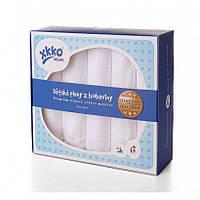 Пеленки детские хлопковые белые органические муслиновые XKKO 70х70 5 шт.