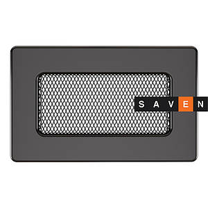 Вентиляционная решетка для камина SAVEN 11х17 графитовая