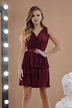 """Нарядное плиссированное мини-платье """"Гофре"""" с разрезом (4 цвета), фото 3"""