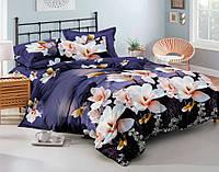 Комплект постельного белья полуторный, полиэстер. Постільна білизна. (арт.8509)