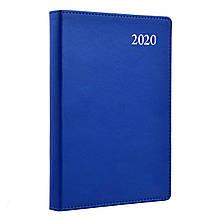 """Щоденник А5  датований   """"Aldento"""", интегр., PU, 386 стор., синій"""