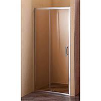 Душевая дверь Sansa SH-120AC, рама brushed, стекло прозрачное 6 мм, 120 х 185 см