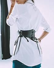 Пояс - корсет с 4 шнуровками Квадро черный