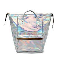 Женский голографический рюкзак HOLOGRAMMA блестящий жіночий сумка сумочка