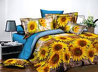 Комплект постельного белья полуторный, полиэстер. Постільна білизна. (арт.11010)