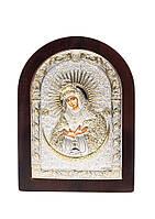 Икона Остробрамская AGIO SILVER (Греция) Серебряная с позолотой 150 х 200 мм, фото 1