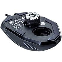 Супер игровая Мышь ZELOTES C-12 С черная с грузиками 9 функциональных кнопок USB 2.0 4000 dpi LED подсветка, фото 3
