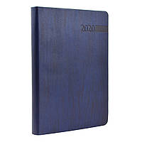 """Щоденник А5  датований   """"Eterno"""", м'який., PU, 352 стор., темно-синій"""