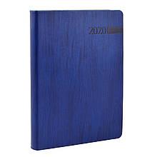 """Щоденник А5  датований   """"Eterno"""", м'який., PU, 352 стор., синій"""