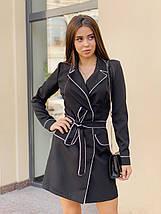 Платье с окантовкой черное /42-46, ft-456/, фото 3