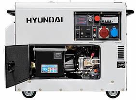 Генератор дизельный Hyundai DHY 8500SE-3, фото 2