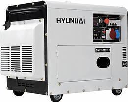 Генератор дизельный Hyundai DHY 8500SE-3, фото 3