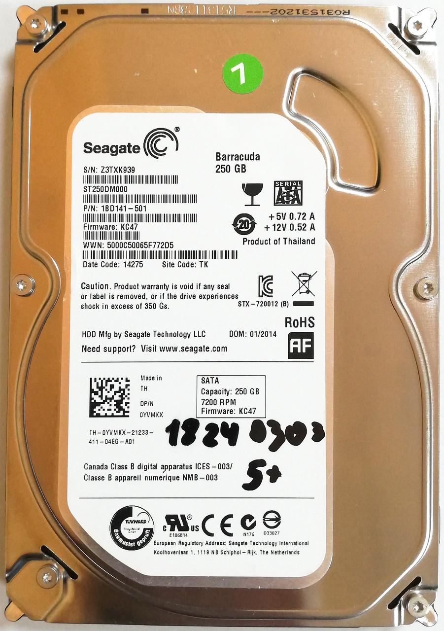 "Жесткий диск для компьютера Seagate Barracuda ST250DM000 250GB 3.5"" 16MB 7200rpm SATA-III 6Gb/s Б/У"