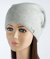Светло-серая женская шапочка Альбина