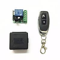 433МГц одноканальний бездротовий вимикач на 12В з таймером + Пульт, фото 1