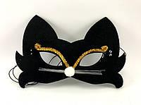 Карнавальная маска черного кота Maskarad 0132