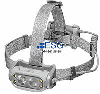 Налобний ліхтар 500 лм PHANTOM холодний світлодіод + 70 лм