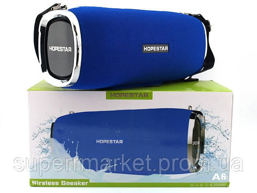 Hopestar A6 34W Boombox SuperBass, портативная колонка с MP3, синяя, фото 2