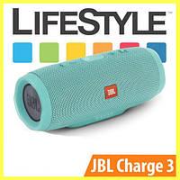 Беспроводная колонка JBL Charge 3 / Портативная блютуз колонка + Наушники в Подарок Голубой