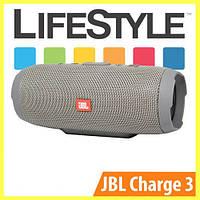 Беспроводная колонка JBL Charge 3 / Портативная блютуз колонка + Наушники в Подарок Металический