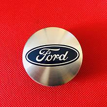 Ковпачок заглушка в литий диск на диск ФОРД Ford, 54/50/9 срібло
