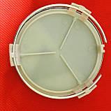 Колпачки заглушки на литые диски в диски Mercedes  Мерседес  Lorinser (75/70/16) черные, фото 2