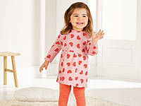 Платье на девочку светло-розовое в сердечко Lupilu, размер 62/68