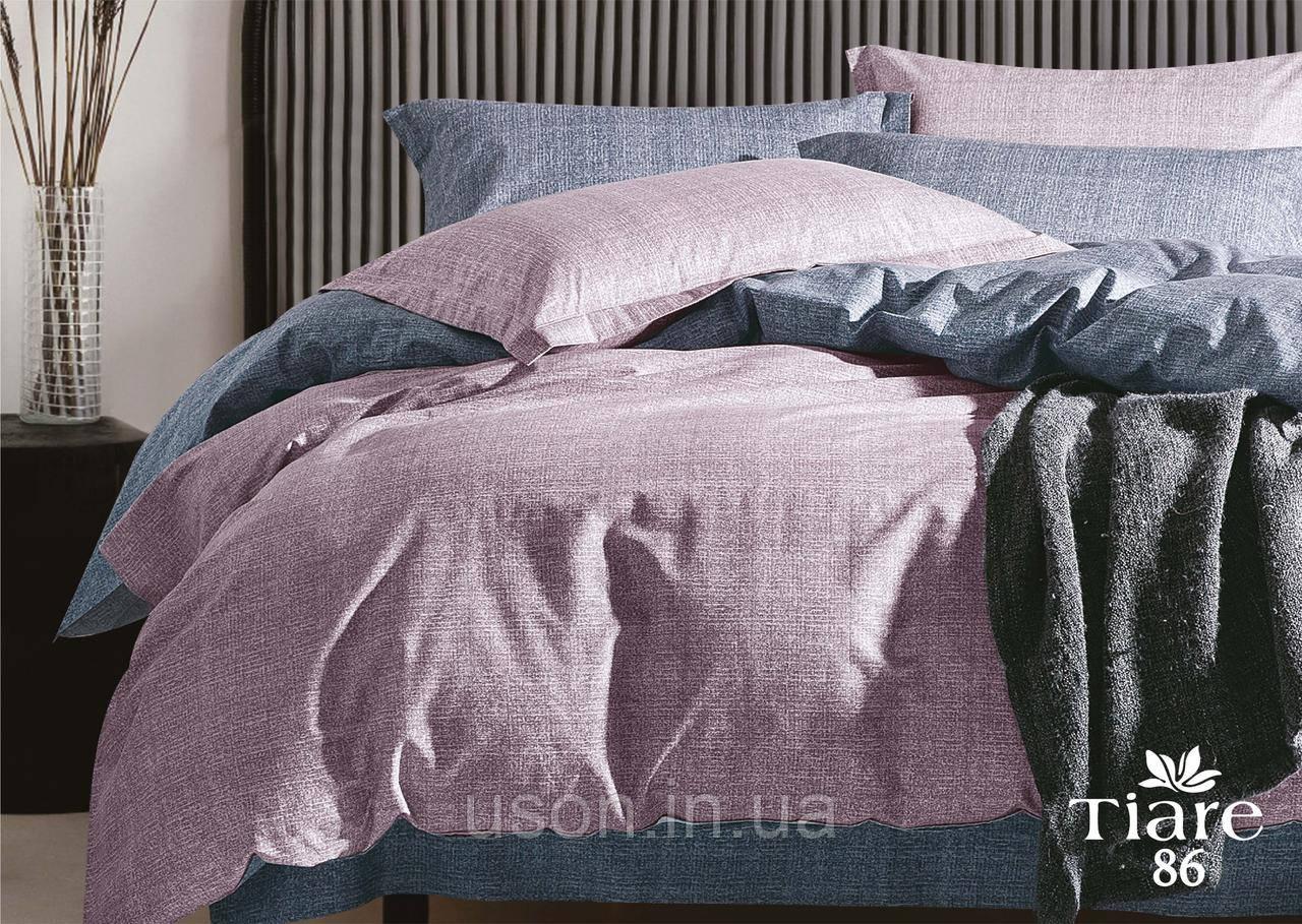 Комплект постельного белья сатин люкс Тиара евро размер 86